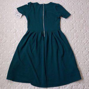 LuLaRoe Dresses - LuLaRoe Large Amelia Dress Solid Teal Blue Texture
